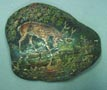 Painted Stone: Deer at pond